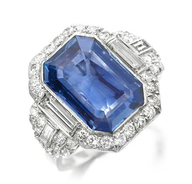 An Art Deco Sapphire and Diamond Ring, by Bulgari, circa 1925