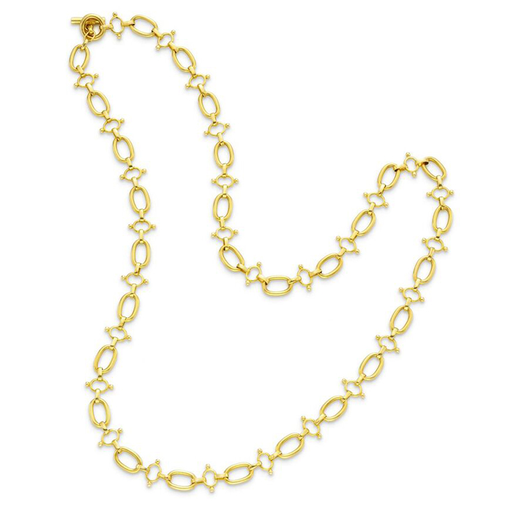 An 18k Gold Fancy Link Chain Necklace, by Bulgari