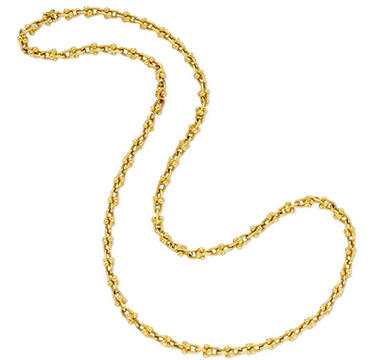 An 18k Gold Knot Link Chain Necklace, by Bulgari
