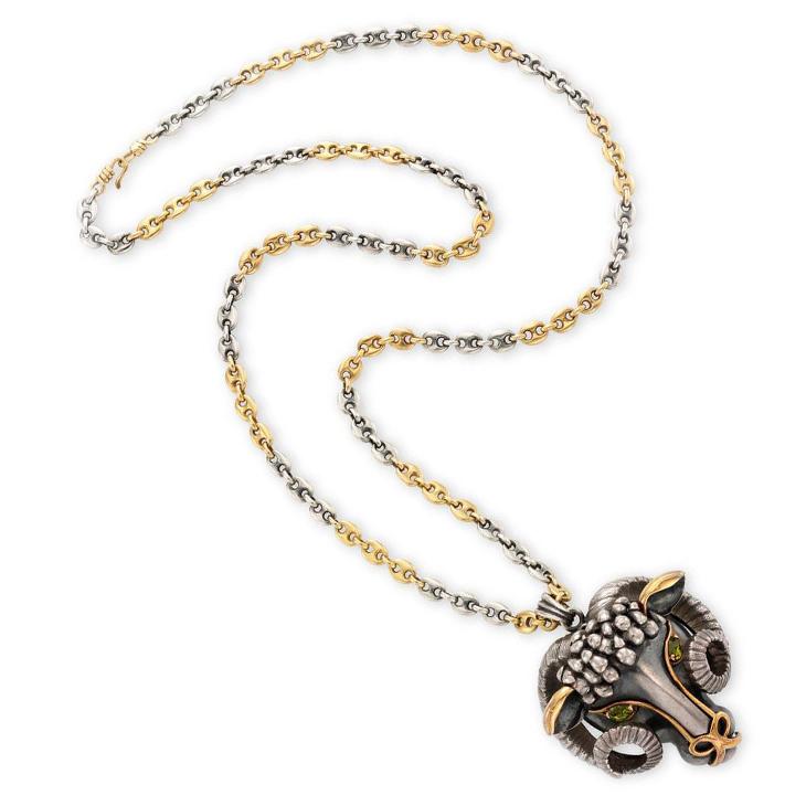 A Belier Pendant Necklace