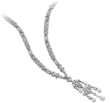 Art Deco Diamond Sautoir Necklace, By Cartier, Circa 1920