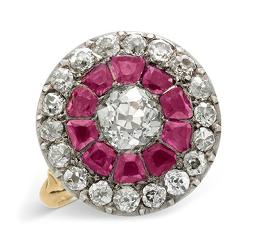 A Georgian Ruby and Diamond Ring, early 19th Century
