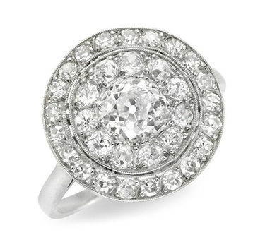 An Edwardian Old European-cut Diamond Cluster Ring