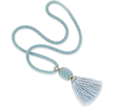 A Chalcedony Bead And Diamond Tassel Necklace, By Hemmerle