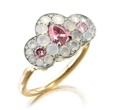 A Pink Diamond and Agate Ring, by SABBA
