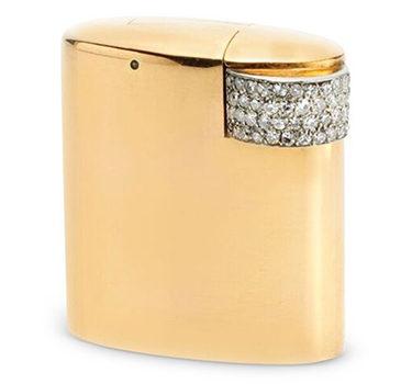 An Art Deco Diamond And Gold Lighter, By Cartier, Circa 1930