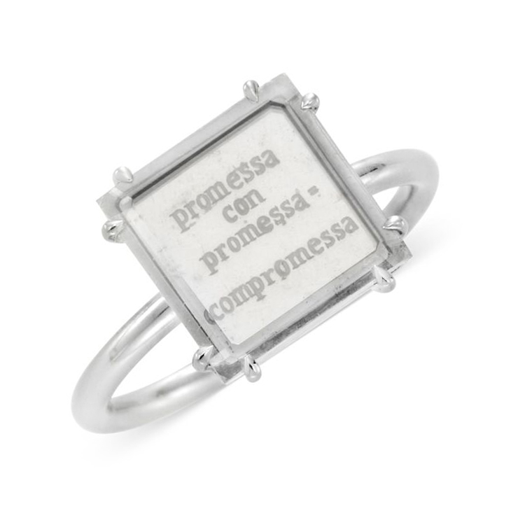 A Portrait Diamond Promise Ring