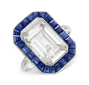 An Early 20th Century Diamond and Sapphire Ring