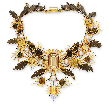 A Multi-Gem and Gold Necklace, by Tony Duquette, circa 1960