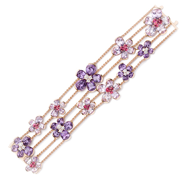 A Diamond and Multi-gem 'Eglantina' Bracelet, by Bodino