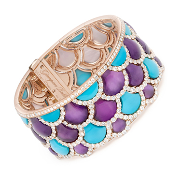 A Turquoise, Amethyst and Diamond 'Irene' Bracelet, by Bodino