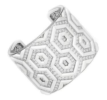 A Diamond And White Agate 'Teodora' Manchette Bracelet, By Bodino