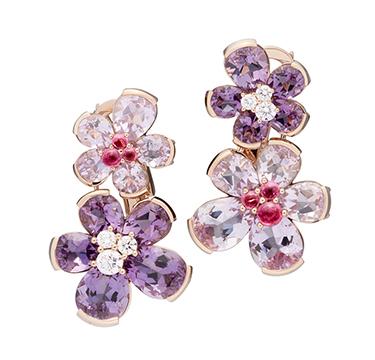A Pair of Diamond and Multi-gem 'Eglantina' Earrings, by Bodino