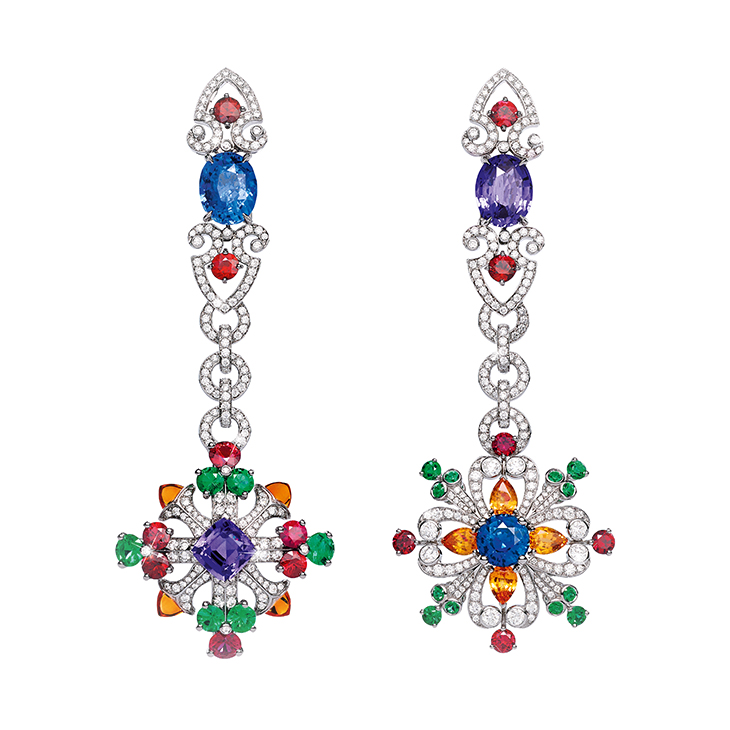 A Pair of Multi-gem 'Colori dell'Iride' Earrings