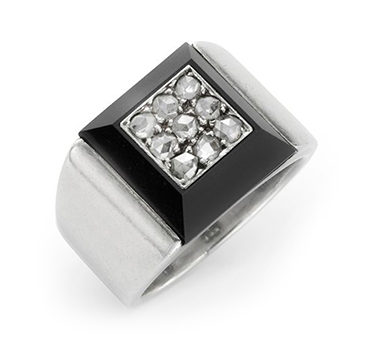 A Rose-cut Diamond And Onyx Ring, By Suzanne Belperron, Circa 1935
