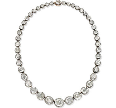 An Antique Diamond Riviere Necklace, Circa Late 19th Century