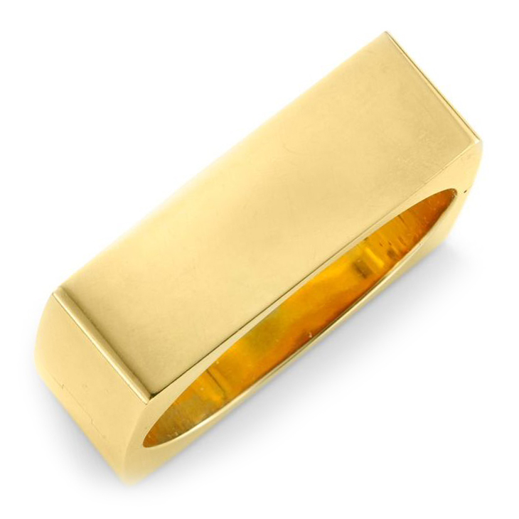A Square Gold Bangle Bracelet, circa 1965
