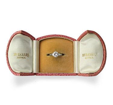A Single Stone Diamond Ring, Of Approximately 1.50 Carats, By Bulgari
