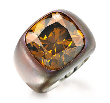 A Colored Diamond Ring