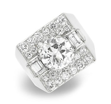A Diamond 'Trombino' Ring, By Bulgari, Circa 1950