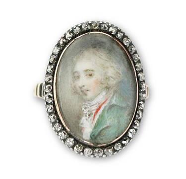 An early 19th Century Portrait Miniature and Diamond Ring