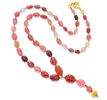 A Tourmaline Bead And Gold Sautoir Necklace, By Verdura