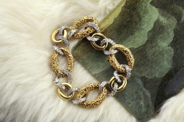 Van Cleef & Arpels Diamond And Gold Bracelet