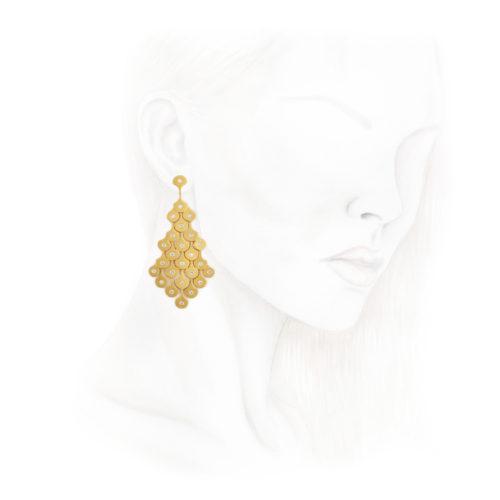 Diamond and Gold Ear pendants