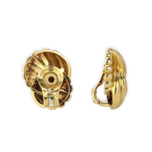 Van Cleef & Arpels Gold Ear Clips