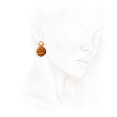 Hemmerle Moonstone and Carnelian Ear Clips