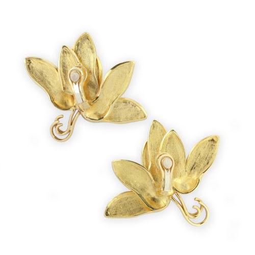 JAR Sculpted Gold Ear Clips