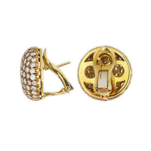 Diamond Set Gold Ear Clips