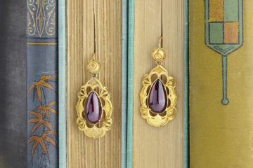 Antique Gold And Garnet Ear Pendants