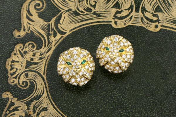 Boucheron Diamond Set Lion Ear Clips