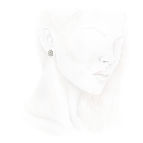 Diamond Set Ear Clips