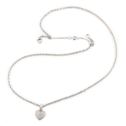 Cartier Petite Diamond Heart Pendant Necklace
