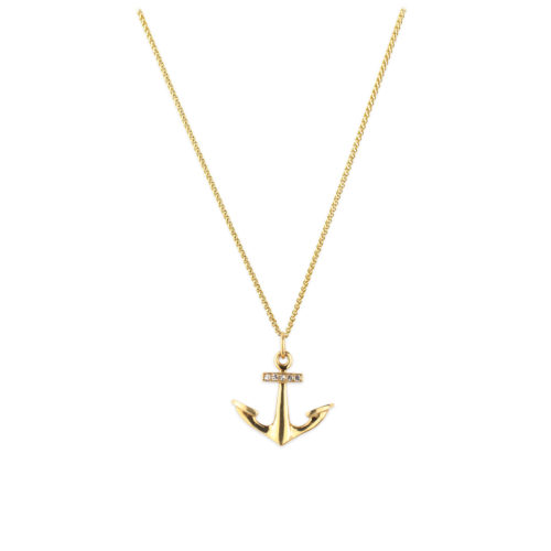 Van Cleef & Arpels Gold and Diamond Anchor Pendant