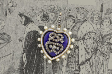 Antique Enamel, Diamond And Pearl Locket Pendant