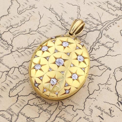 Antique Gold and Diamond Locket