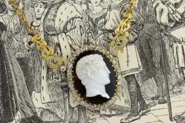 Giuseppe Girometti Antique Onyx Cameo Necklace