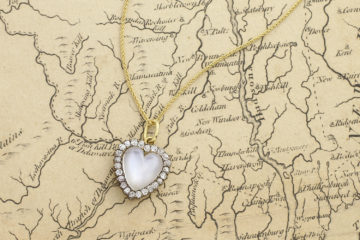 Antique Moonstone And Diamond Heart Shaped Pendant