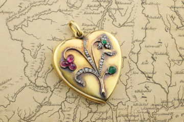Antique Gem-set Locket Pendant