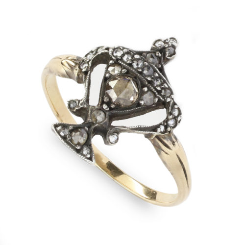 Antique Diamond Memento Mori Ring