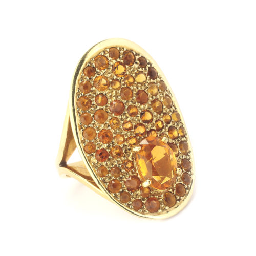 Cartier Dihn Van Citrine and Gold Ring