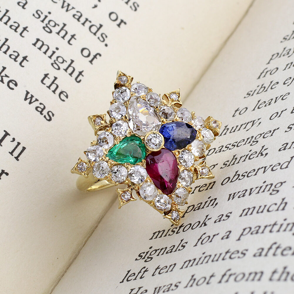 Multi- Gem and Diamond Ring