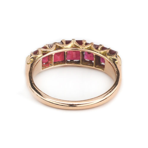 Antique Ruby and Gold Band Ring