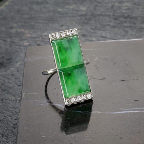 Jade and Diamond Ring