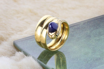 Victorian Sapphire And Diamond Snake Ring