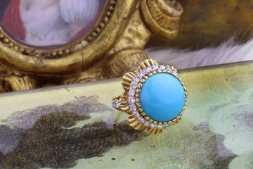 Van Cleef & Arpels Turquoise And Diamond Ring