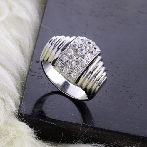 Rene Boivin Diamond and Platinum Ring